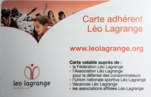 Carte d'adhésion à Léo Lagrange