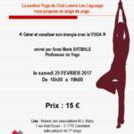 Stage de Yoga le 25 février 2017