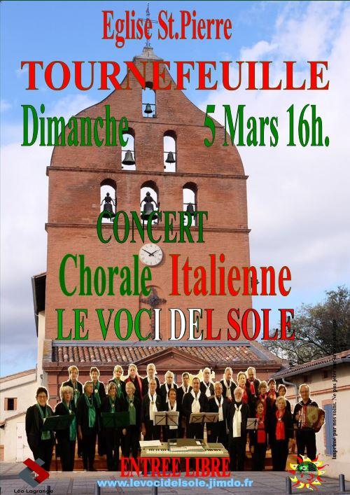 Concert de la Chorale Italienne Le Voci del Sole