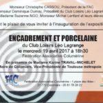 Exposition Encadrement & Porcelaine – le 19 avril 2017