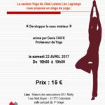Stage de Yoga le 22 avril 2017
