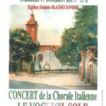 Le Voci del Sole en concert le 17 décembre 2017 – Eglise Sainte Radegonde