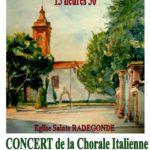 Le Voci del Sole en concert le 18 décembre 2016 – Eglise Sainte Radegonde